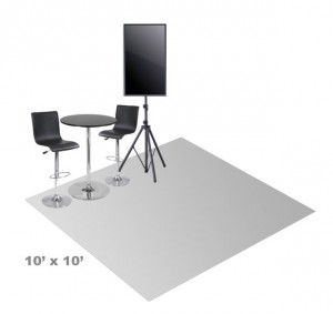 10 x 10 booth layout